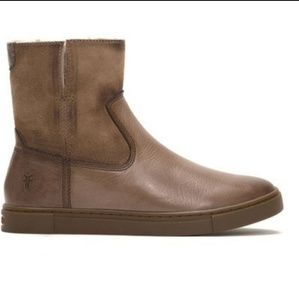 Frye Gemma Leather Shearling Lined Short Boots